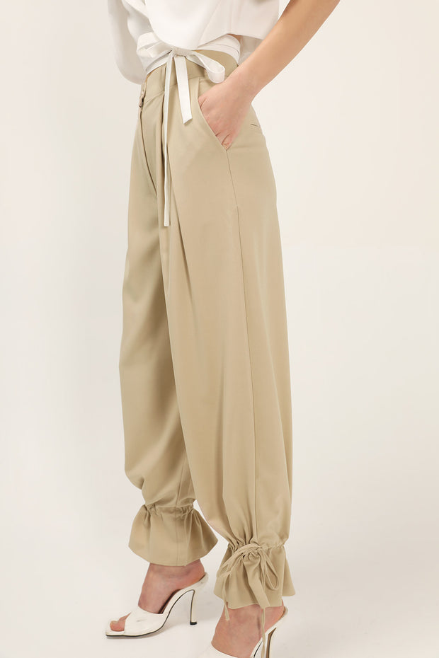 Martha Pintuck Wide Leg Pants