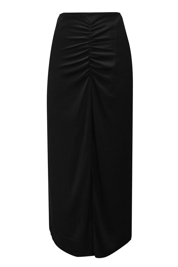 Bella Ruched Slit Skirt