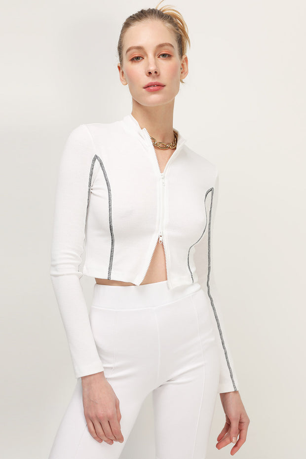 storets.com Teagan Zip-Up Crop Top