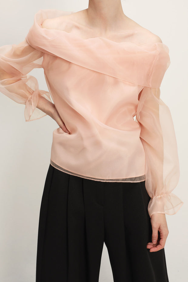 storets.com Dakota Organza Off-the-Shoulder Top