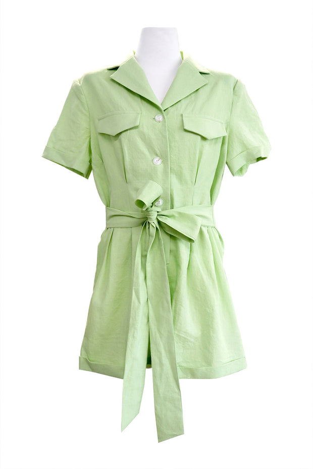 Khloe Notch Collar Romper