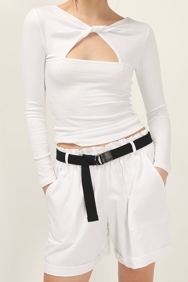 storets.com Noemi Folded Shorts And Belt Set