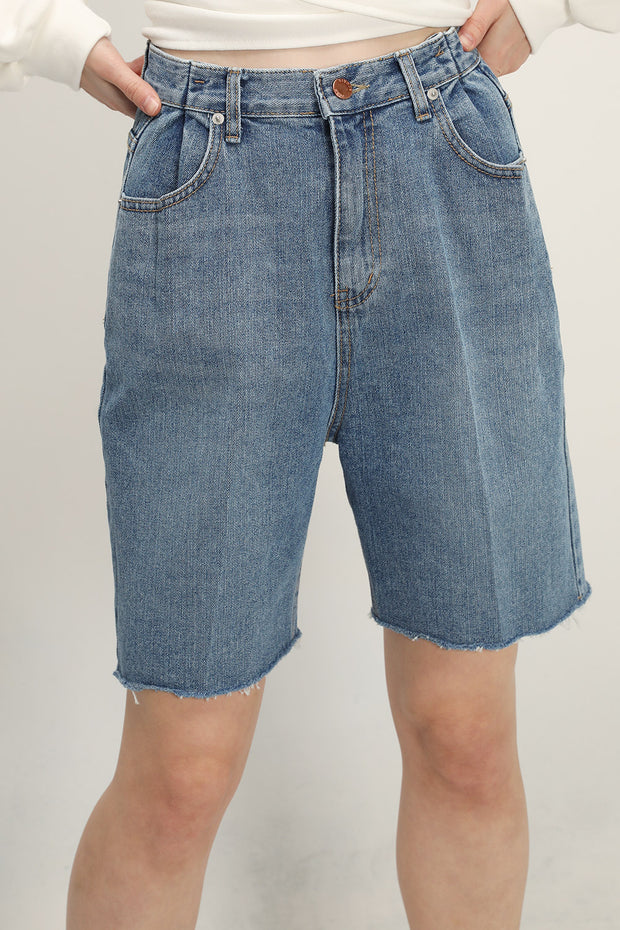 Jordyn Bermuda Denim Shorts