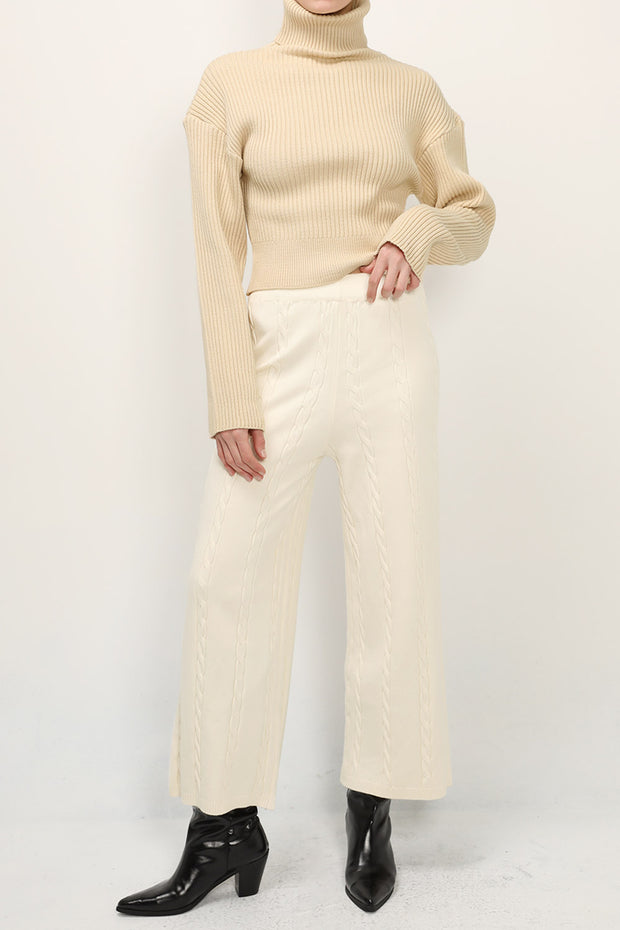 storets.com Noelle Cable Knit Pants