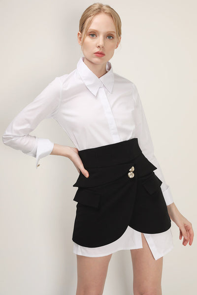 storets.com Jolie Shirt And Wrap Skirt Set