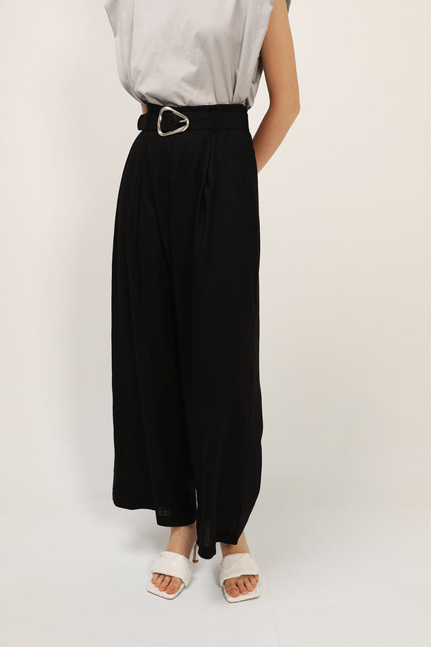 storets.com Reagan Belted Wide Leg Linen Pants