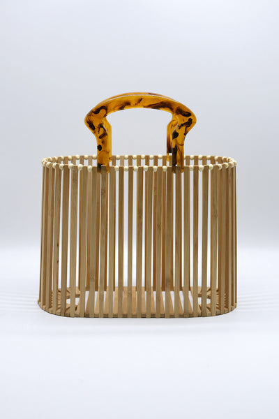 storets.com Wooden Basket Bag