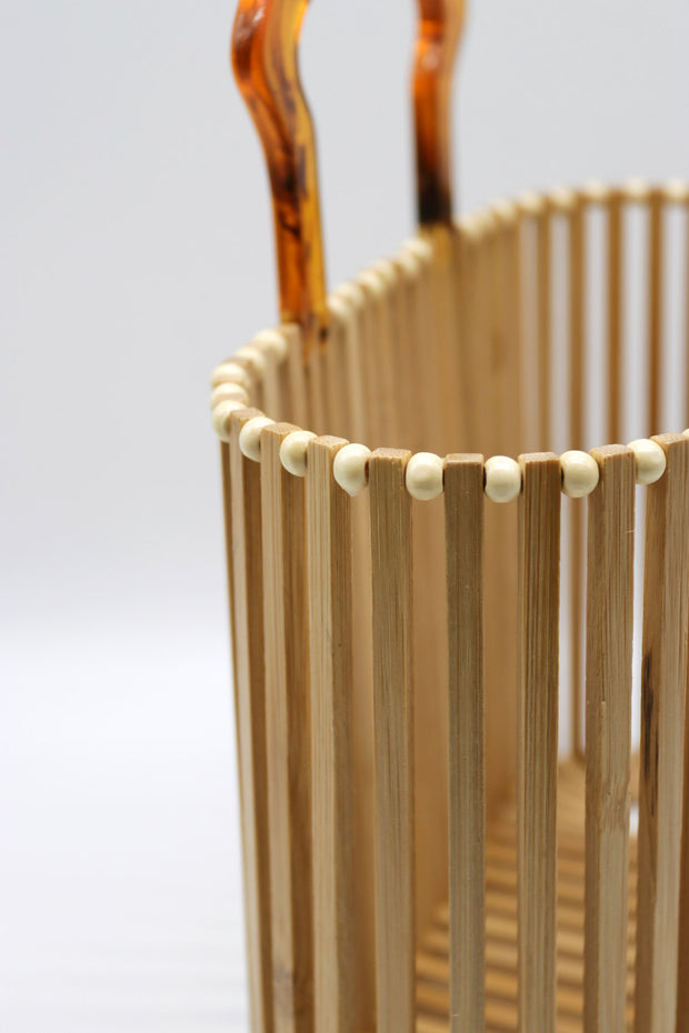 Wooden Basket Bag