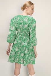 storets.com Reina Floral Ruched Dress