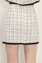 storets.com Brittany Tweed Trim Skirt