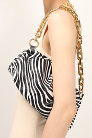 storets.com Zebra Printed Chain Bag