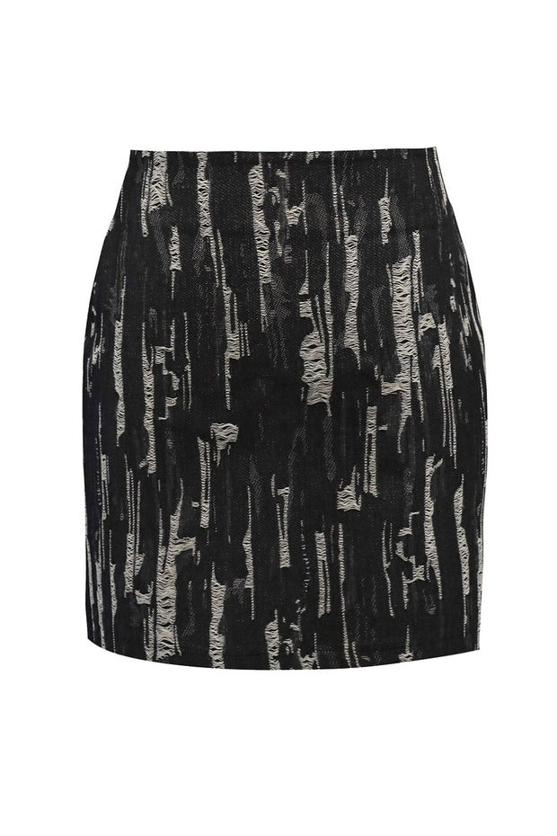 storets.com Kailyn Ripped Denim Skirt