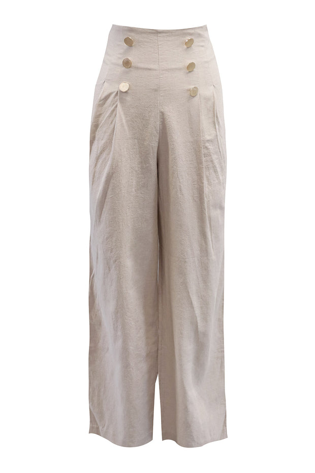Reyna Gold Button Pants