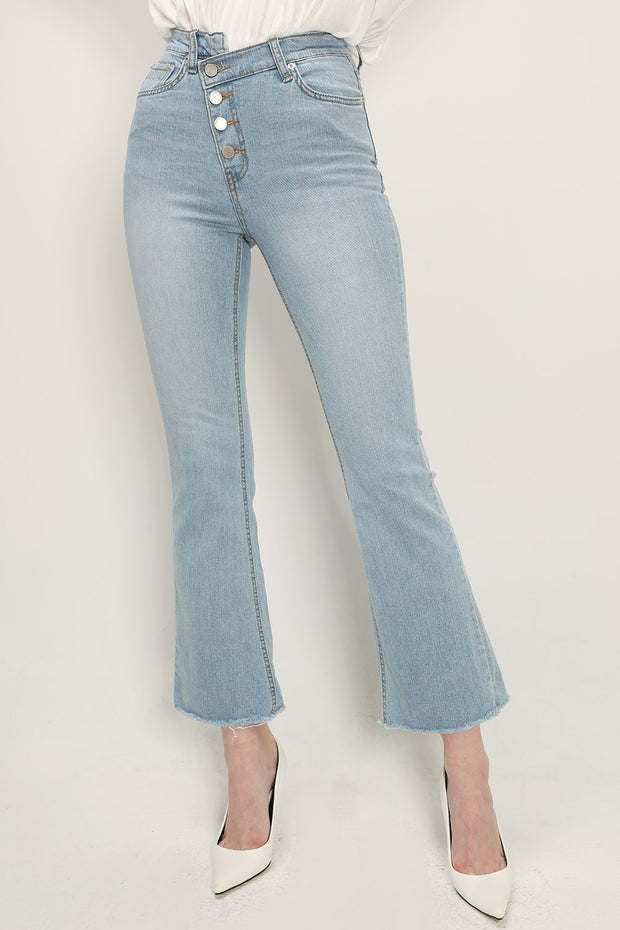 storets.com Emery Asymmetric Button Jeans