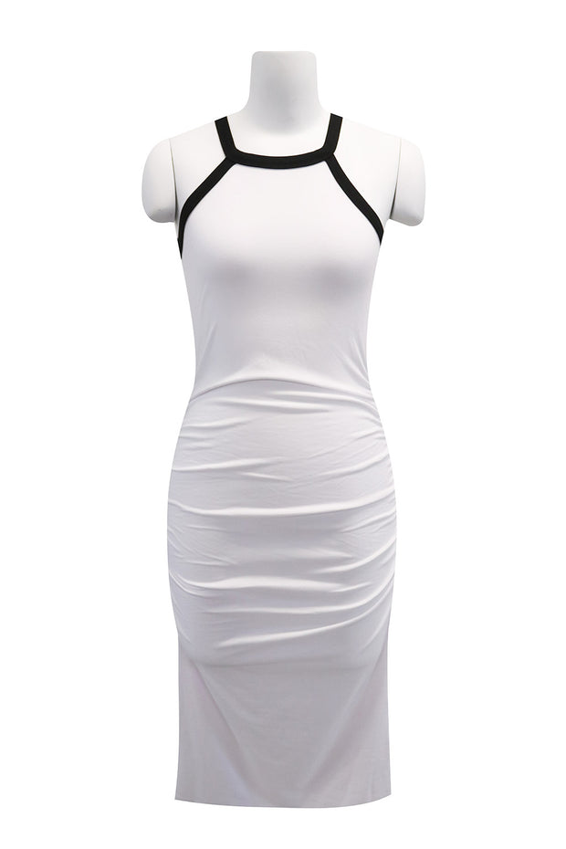 Elliot Contrast Trim Halter Dress