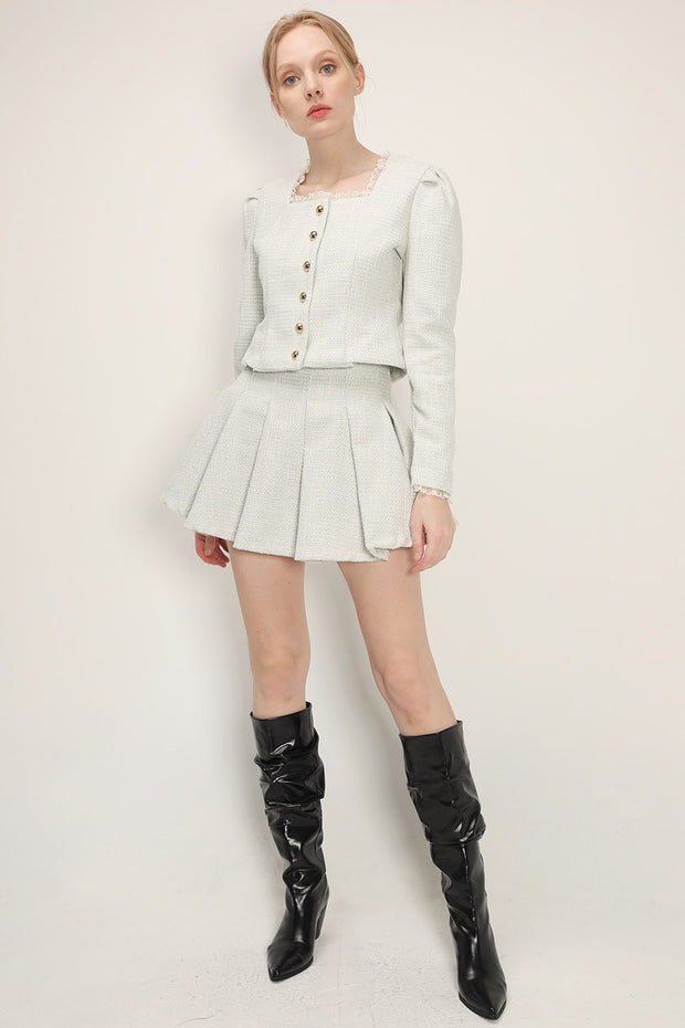 storets.com Nana Lace Trim Cropped Jacket