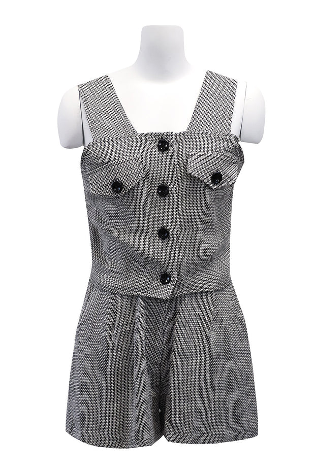 storets.com Iva Linen Sleeveless And Shorts Set