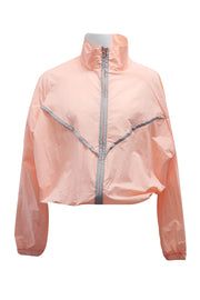 Jaylah Contrast Trim Windbreaker