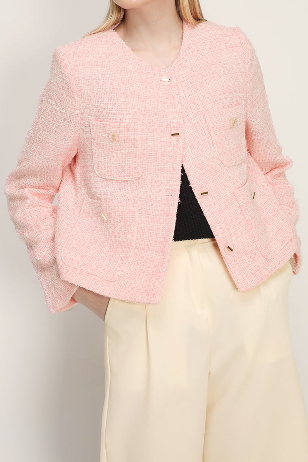 storets.com Mckenna Tweed Pocket Jacket
