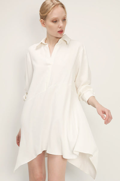 storets.com Ruby Asymmetric Hem Shirt Dress