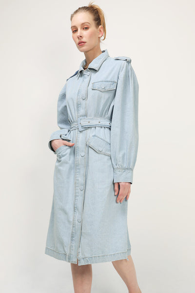 storets.com Alora Denim Trench Coat