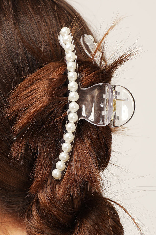 Pearl Embellished Hair Claw