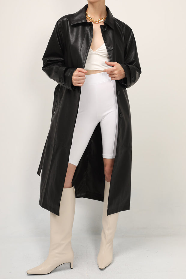 storets.com Natalie Pleather Trench Coat