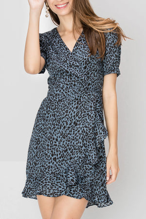 Irene Leopard Print Dress