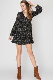 Gina Button Dress