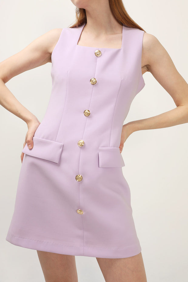 storets.com Gaia Button Detail Pinafore