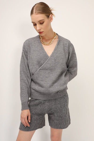 storets.com Eva Wrap Knit Top