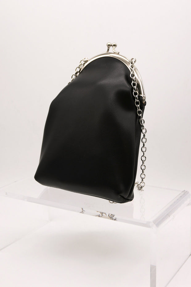 storets.com Chain Pleather Purse Bag