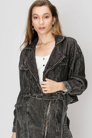 storets.com Beatrice Striped Corduroy Jacket