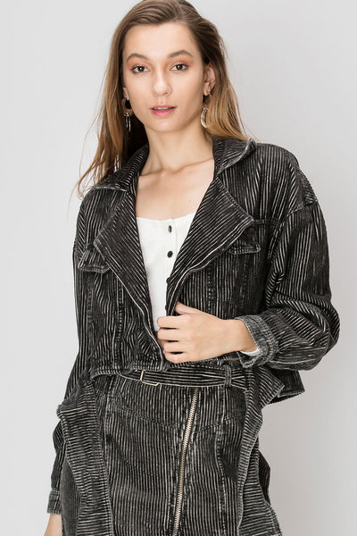 Beatrice Striped Corduroy Jacket