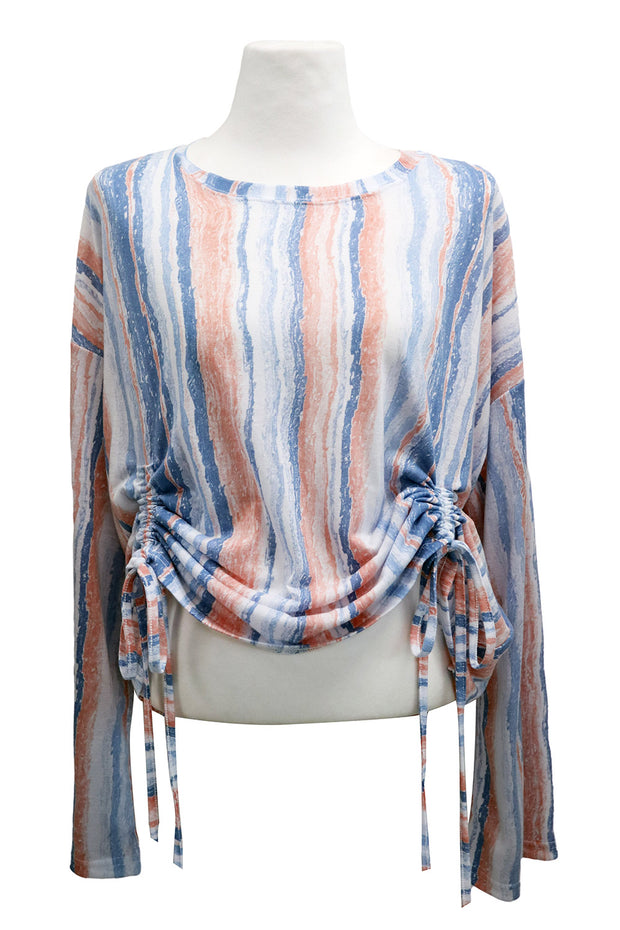 storets.com Julie Striped Ruched Top