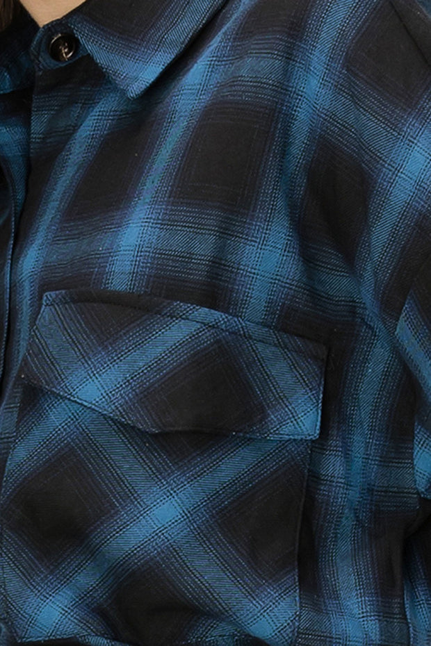 storets Abby Blue Plaid Jacket
