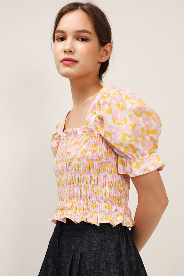 Annie Floral Smocked Top
