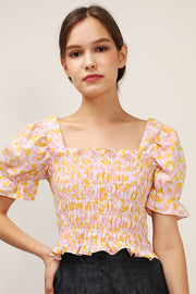 storets.com Annie Floral Smocked Top