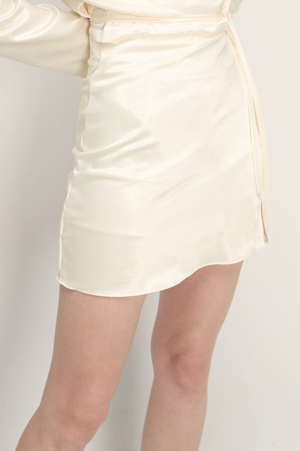 storets.com Margot Satin Slit Skort