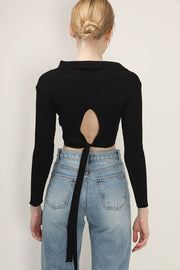 storets.com Sadie Tie Back Collared Top