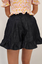 Alice Denim Ruffle Skort