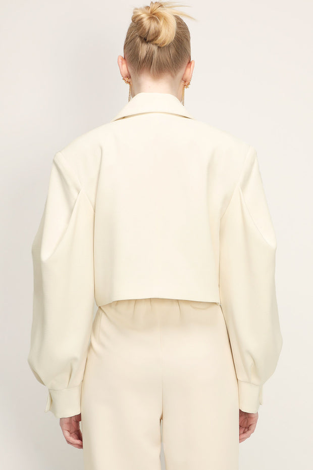 storets.com Amy Structured Puff Sleeve Cropped Jacket