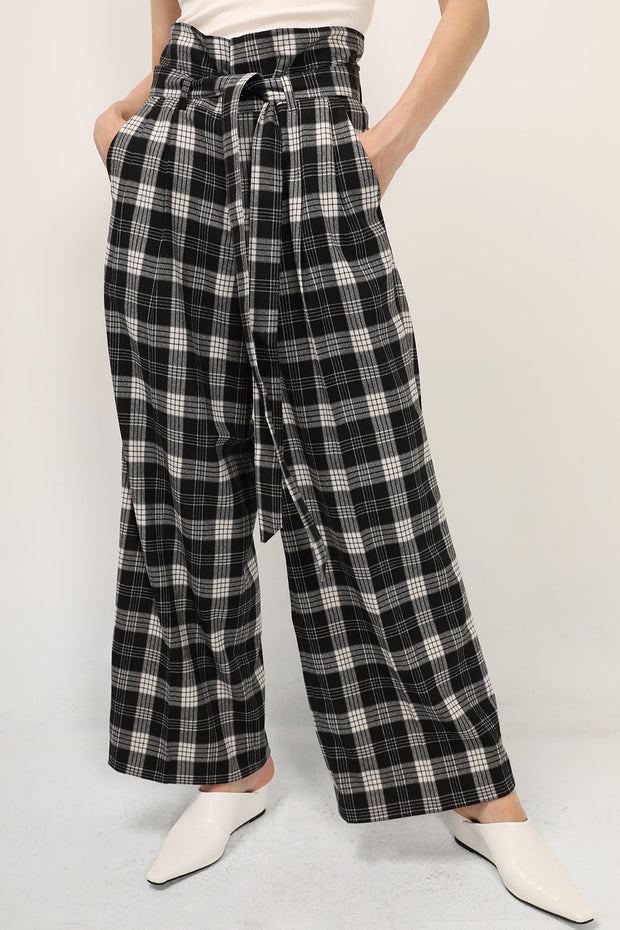 Reina Plaid Wide Leg Pants