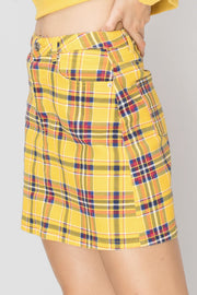 Nada Multi Plaid Skirt-2 Colors