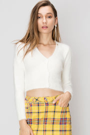 Fanny Knit Cropped Cardigan-2 Colors