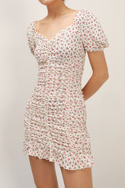 Abby Floral Ruched Dress