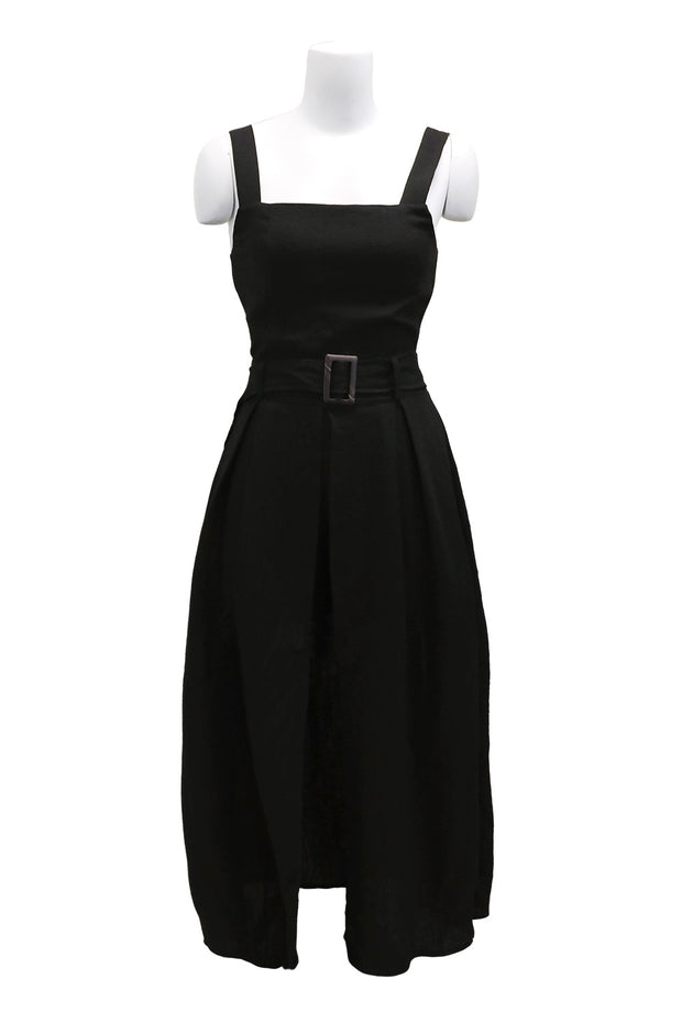 storets.com Ellie High Slit Pinafore Dress