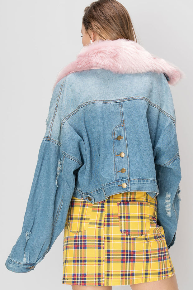 Heidi Furry Denim Jacket