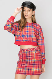 Nada Multi Plaid Skirt