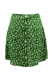 storets.com Sadie Floral Buttoned Flare Skirt